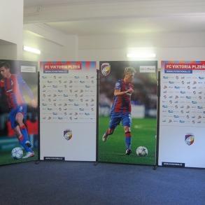 stěna v tiskové místnosti FC Viktoria Plzeň
