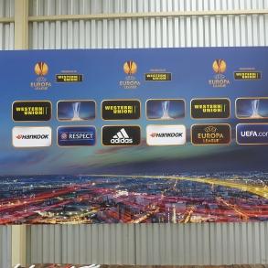 samostojné tabule do zóny pro média - FC Viktoria Plzeň