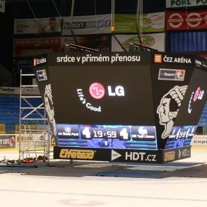 branding časomíry a projekce stadionu HC Škoda Plzeň